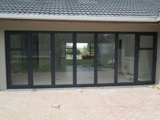 Stack and Fold with Top Hung Window by single door