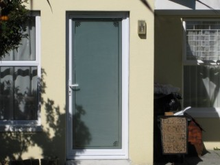 Single Door with Sandblasting